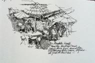 Anadolu Kavagi, Turkey, Ink Pen Sketch
