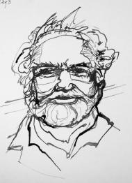 Tom -pen and ink sketch