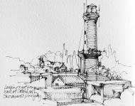 Uruguay ink pen sketch