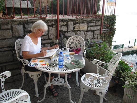 Carol sketching.Varenna.web
