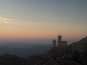 sunset view san marino